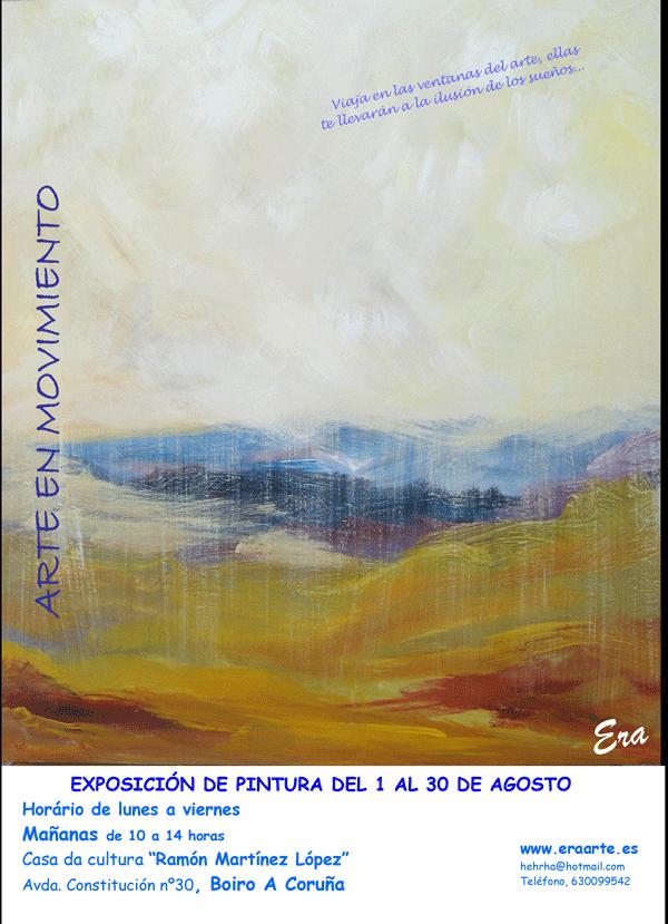 Cartel de la exposición en Boiro