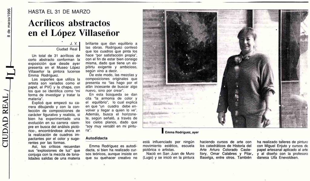 La obra de la pintora Era en instituciones públicas y privadas